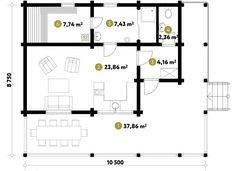 Баня в классическом скандинавском стиле с большой открытой террасой. Комфортная сауна, комната отдыха совмещена с зоной кухни. Закажите проект одноэтажной бани из клееного бруса по телефону: + 7 (495) 120-28-88.