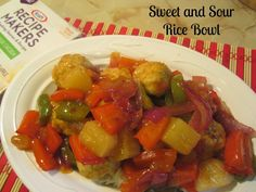 Sweet and Sour Rice Bowls: Quick easy meals w/ #kraftrecipemakers meal kits #shop #cbias