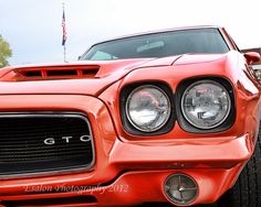 colorful pictures of muscle cars | Classic 1972 Pontiac GTO orange muscle car an 8 x 10 color print ...