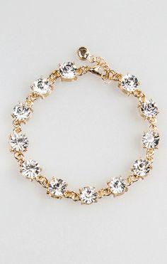 Katherine Tennis Bracelet- Clear Stone