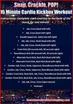 15 minute cardio kickbox