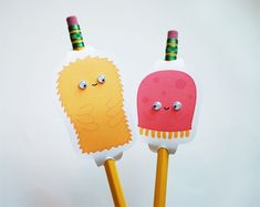 Friendly Monster DIY Pencil Toppers