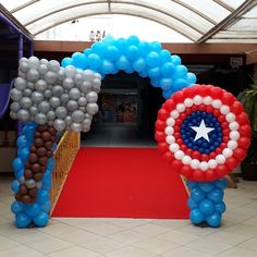 Birthday Balloon Decorations, Birthday Balloons, Balloon Ideas, Balloon Arch, Dinosaur Balloons, Body Piercings, Garland, Things To Think About, Avengers