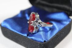 wonderful Victorian red Cameo Ring circa 1890  #Unbranded #Band