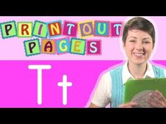 Learn to write letter T with Ms. Victoria, Learn the alphabet with Print...
