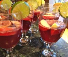 Spanish Sangria - perfect for a summer party, especially if you're serving #Spanish Cuisine or #Paella!