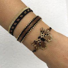Miyuki beaded blue owl bracelet set, unique, stylish, chic bracelet for women, girls Seed Bead Jewelry, Heart Jewelry, Beaded Jewelry, Cute Bracelets, Loom Bracelets, Earrings Handmade, Handmade Jewelry, Miyuki Beads, Owl Bracelet
