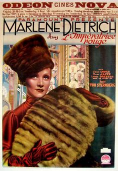 The Scarlet Empress (1934) starring Marlene Dietrich — French Film Poster