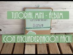 TUTORIAL. Como hacer un Album Scrapbook con una encuadernación cosida muy fácil - EASY BINDING - YouTube