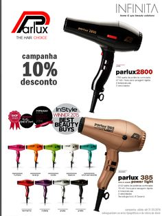 || Campanha PARLUX 2800/385 • Até 31 de Março 016, não perca a oportunidade de adquirir a um preço reduzido O MELHOR SECADOR DO MUNDO. | PARLUX 2800/385 Campaign • Do not miss the opportunity to purchase at a reduced price THE BEST WORLD HAIR DRYER. | www.INFINITA.pt
