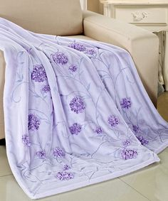 #THROW #BLANKET #LILAC