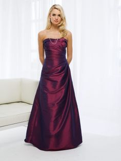 strapless bridesmaid gowns
