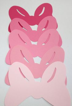 10 Pinkalicious Minnie Mouse Hair Bows Pink, Banner, Party Decorations, Die Cut, Table Decor