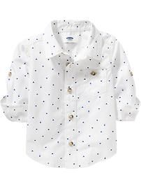 Triangle-Print Shirts for Baby