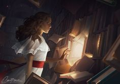 The Reader by Charlie-Bowater.deviantart.com on @DeviantArt