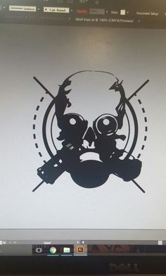 """Gas Mask Logo"" Logo for any type of use. 5 minutes to do."