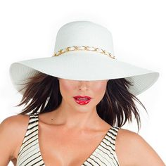 b9ebe56f254 fun hat to go with the white dress with chain detail