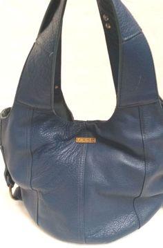 144e5e765a Joe's Jeans Womens Genuine Leather Blue Large hobo shoulder bag handbag  purse | eBay
