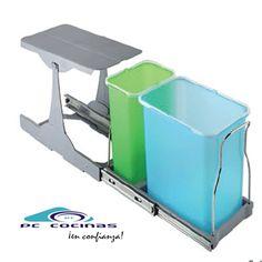 PATTY Cubo ecológico PATTY Disponible con 3 contenedores de 8 litros Disponible con 2 contenedores 1 de 8 litros y otro de 16 litros Valido para mueble de 300 mm
