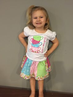 Tea Party birthday shirt or  outfit! by Mimimadeitboutique on Etsy