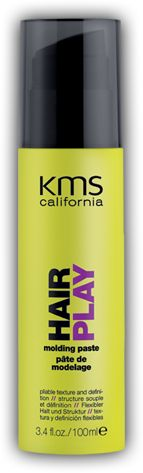 FIRM HOLD:  KMS Hair Play, Molding Paste.  Great for spikey bed-head styles.  Best used after hair is dry.