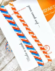 Orange Blue Bracelet Koningsdag Armband King's Day Bracelet Nederland Bracelet Orange Blue White Bracelet Friendship Braided Bracelet