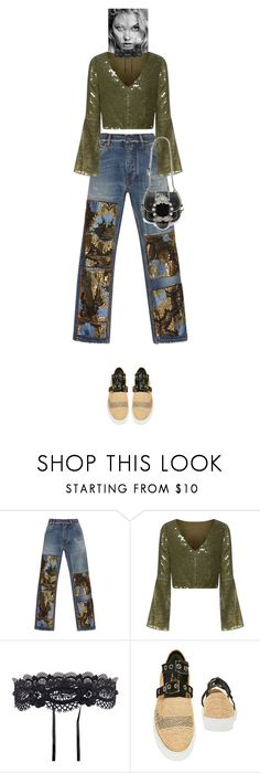 """""""Ekaterine #8186"""" by canlui ❤ liked on Polyvore featuring Dolce&Gabbana, Rachel Gilbert, WithChic, Robert Clergerie and Miu Miu"""