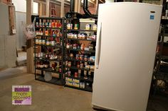 Basement Freezer & Storage Area