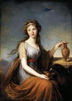 Élisabeth Vigée Le Brun (French, 1755-1842). Portrait of Anna Pitt as Hebe, 1792. Hermitage Museum. St Petersburg, Russia