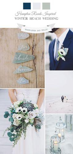 Elegant Hampton Roads Inspired Winter Beach Wedding from Tidewater & Tulle