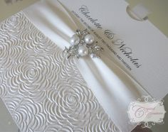 diamonds and pearls themed weddings | ... , luxury satin ribbon and a pearl and crystal vintage embellishment