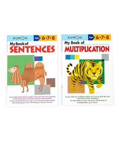 Another great find on #zulily! My Book of Sentences & Multiplication Workbook Set by Kumon Publishing #zulilyfinds