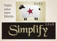free primitive stencils | Stencil Simplify Primitive Sheep Barn Star Sign Blocks | eBay