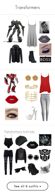 """""""Transformers"""" by l-a-t on Polyvore featuring WearAll, Timberland, Milly, Lime Crime, H&M, Charlotte Russe, BauXo, Stella & Dot, Miriam Haskell and Boohoo"""