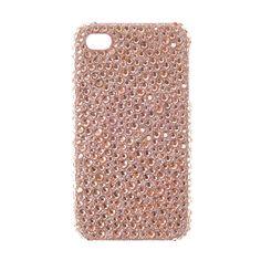 Coque pour téléphone or rose à strass pour iPhone 4 et 4S