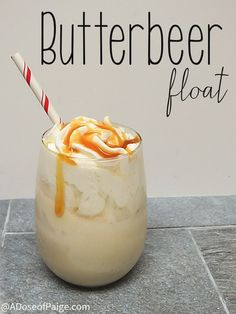 Butterbeer Float   Community Post: 18 Fandom Inspired Recipes That Every Fan Will Love