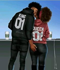 Deus e a base de tudo! Sexy Black Art, Black Love Art, Black Girl Art, Black Is Beautiful, Black Girl Magic, Black Girls, Beautiful Pictures, Black Couple Art, Black Love Couples