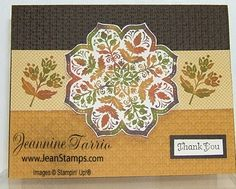 Stampin' Up! Day of Gratitude and Autumn Spice Designer Series Paper Reinker Felt stamp pad technique Jeannine Tarrio October 2010 Holiday Mini