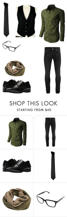 """""""DaithiDeNogla Business Outfit"""" by pikachugamergirl ❤ liked on Polyvore featuring LE3NO, Alexander McQueen, Stacy Adams, Versace, Edit. Tokyo, Tom Ford, men's fashion and menswear"""