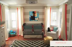 Alison Giese Interiors :: portfolio, She has some very fun ideas. I want to do this horizontal stripe in the boys' room.  Happy to have a photo so I can show my skeptic family what I am thinking. :)