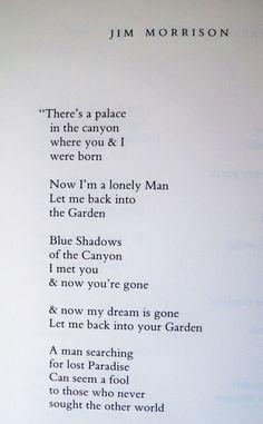 """Wilderness"" by Jim Morrison"