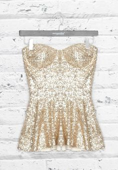 Glitter top in gold exactly like this