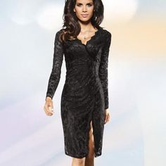 Rochie de seara din dantela neagra VOTRE MODE femei Dresses With Sleeves, Formal Dresses, Romania, Long Sleeve, Fashion, Dresses For Formal, Moda, Sleeve Dresses, Formal Gowns