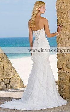 Beach wedding gown (BC133) (back) $268