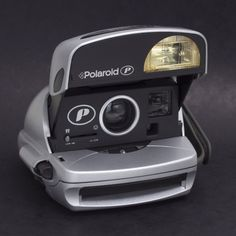 Polaroid P Classic 600 Instant Film Print CAMERA Point And Shoot Silver EXC