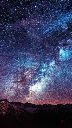 Amazing Milkyway Space Mountain Red iPhone 6 wallpaper