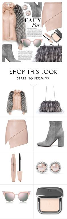 """Pink Fox (TS - 26/09/17)"" by oxhannahbananaxo ❤ liked on Polyvore featuring Carolina Herrera, Michelle Mason, Anja, Forever 21, Miu Miu and Fendi"