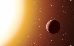 Artist's impression of a hot Jupiter exoplanet in the star cluster Messier 67 - This artist's impression shows a hot Jupiter planet orbiting close to one of the stars in the rich old star cluster Messier 67, in the constellation of Cancer (The Crab). More information: http://www.eso.org/public/images/eso1621a/ Credit: ESO/L. Calçada
