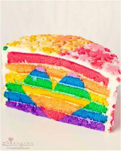 #Rainbow #Heart #Cake 15 #Desserts With Hidden #Hearts | All #Yummy #Recipes