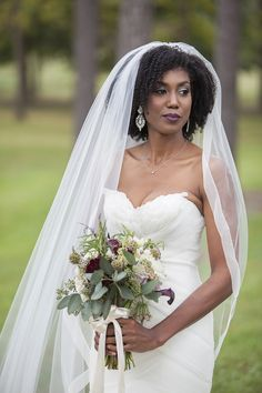 Southern Sweet Seasons Farm Wedding  Natural Hair Bride